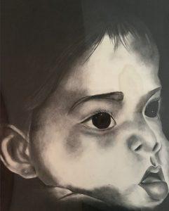 Drawn image of Angela Kulewicz's baby.